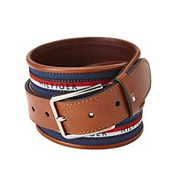 Tommy Hilfiger® Men's Flag Stripe Inlay Ribbon Belt