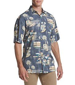 Paradise Collection® Men's Short Sleeve Rayon Printed Button Down Shirt