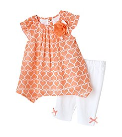 Cuddle Bear® Baby Girls' Heart Capri Set