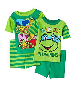 Nickelodeon® Boys' 4-10 Teenage Mutant Ninja Turtle In Training 4-Piece Shorts Set