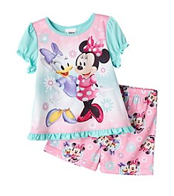 Mickey Mouse® Girls' Minnie and Daisy 2-Piece Shorts Set