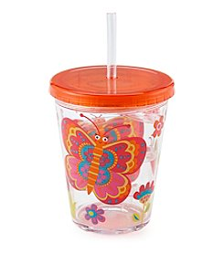 Living Quarters Butterfly Curly Straw Cup