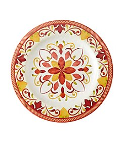 LivingQuarters Warm Medallion Dinner Plate