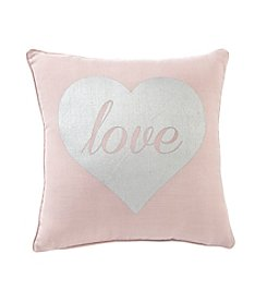 Metallic Heart Decorative Pillow