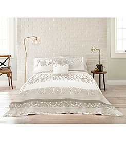 Living Quarters Suri Ivory Linen Quilt Collection