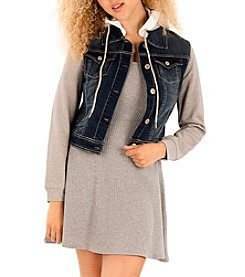 Wallflower® Layered Denim Vest Jacket