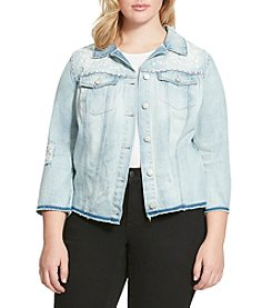 Jessica Simpson Plus Size Pixie Denim Jacket