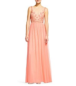 Adrianna Papell® Beaded Bodice Tulle Skirt Dress
