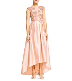 Adrianna Papell® Beaded Bodice Taffeta Skirt Dress
