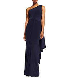 Adrianna Papell® Jersey One Shoulder Gown