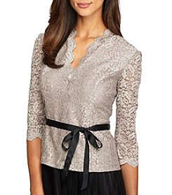 Alex Evenings® Waist Tie Blouse