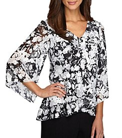 Alex Evenings® Sheer Blouse