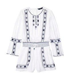 Polo Ralph Lauren® Girls' 7-16 Embroidered Romper