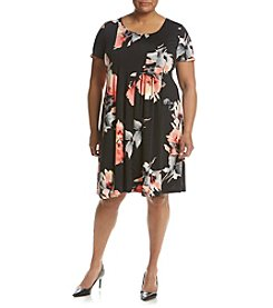 Studio Works® Plus Size Printed Pleated Dress