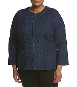 Alfred Dunner® Plus Size Embroidered Jacket