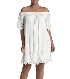 Skylar & Jade™ Plus Size Off-Shoulder Crochet Dress