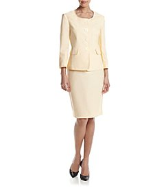 LeSuit® Four-Button Skirt Suit