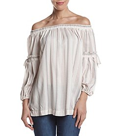 Max Studio Edit™ Striped Off Shoulder Jersey Top