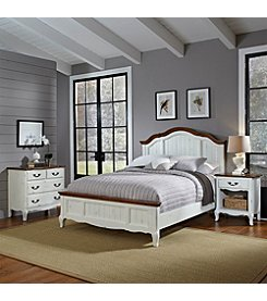 Home Styles® French Countryside Oak and Rubbed White Bed Collection