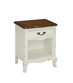 Home Styles® French Countryside Oak and Rubbed White Night Stand