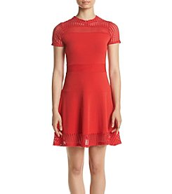 MICHAEL Michael Kors® Mesh Lace Fit and Flare Dress