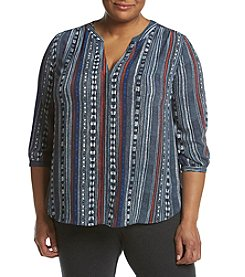 NYDJ® Plus Size Pintuck Blouse