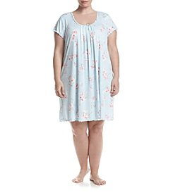 Miss Elaine® Plus Size Printed Night Gown