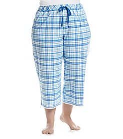 KN Karen Neuburger Plus Size Capri Cobalt Plaid