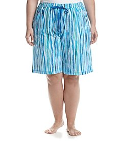 KN Karen Neuburger Plus Size Striped Bermuda Pajama Shorts