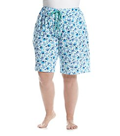 KN Karen Neuburger Plus Size Shell Printed Shorts
