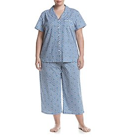 KN Karen Neuburger Plus Size Printed Pajama Set
