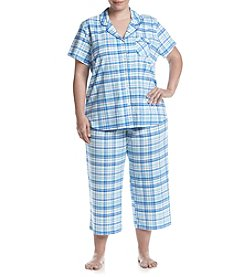 KN Karen Neuburger Plus Size Plaid Printed Pajama Set