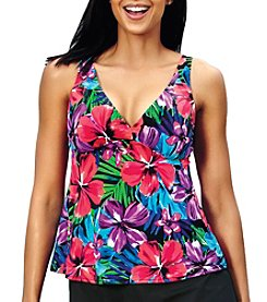 Caribbean Joe® V-Neck Tankini Top