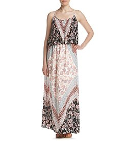 Sequin Hearts® Scarf Popover Maxi Dress
