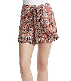 Sequin Hearts® Wrap Front Shorts
