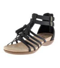 Ruff Hewn Womens Misty Sandals (Black / Pewter)