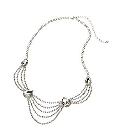 BT-Jeweled Multi Row Rhinestone Necklace