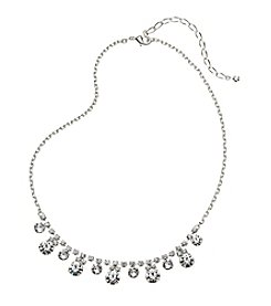 BT-Jeweled Small Circle Rhinestone Collar Necklace