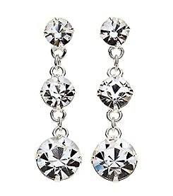 BT-Jeweled Triple Circle Linear Drop Earrings