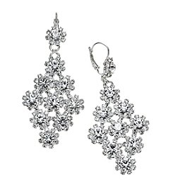 BT-Jeweled Euro Rhinestone Chandelier Earrings
