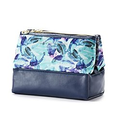 Tricoastal Watercolor Leaf Dual Pyramid Pouch