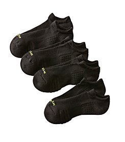 HUE® 4-Pack No Show Air Cushioned Sole Socks