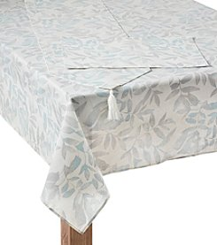 Living Quarters Natural Leaves Table Linens Collection