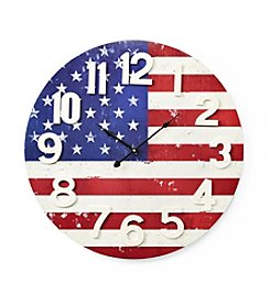 Living Quarters Americana Flag Wall Clock