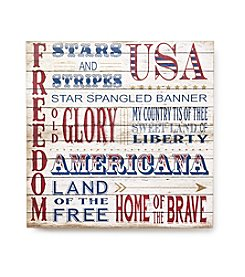 Living Quarters Americana Verbiage Wall Art