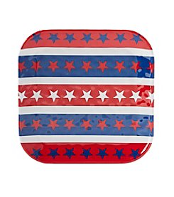 Living Quarters Americana Patterned Salad Plate