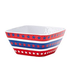 LivingQuarters Americana Cereal Bowl