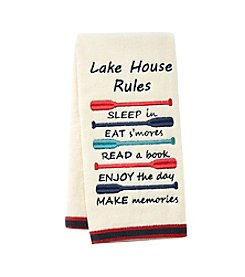 Living Quarters Lake House Rules Hand Towel