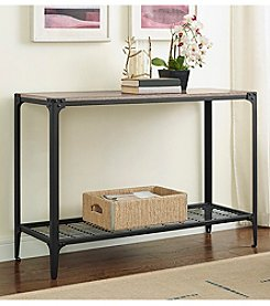 W. Designs Angle Iron Rustic Wood Console Table