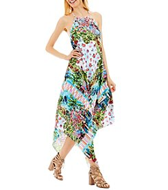 Nicole Miller New York® Floral Asymmetric Hem Dress
